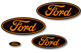 Front,Rear,Steering Wheel Decals Sticker Oval Overlay For Ford F150 11-1... - $29.65