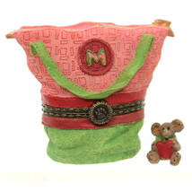 Boyds Bears Resin - Momma's Got It All Tote with Mabel McNibble Treasure Box - $19.99