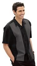 Retro Bowling Shirt, Black/Steel Grey, 4XL - $60.66