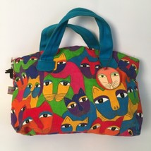 Laurel Burch Colorful Cats Handbag Purse by Sun n Sand Good Used Condition - $21.24