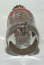 USA Coke Coca-Cola Mini Miniature dried Pink Purple Flowers crystal glass bottle image 6