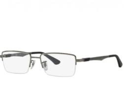 Ray Ban Rx Eyeglasses Frames RB 6263 2502 52-17-145 Gunmetal Optical Frame - $68.99