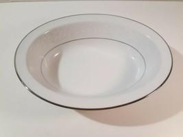 "Noritake Serving Bowl Platinum Rim Buckingham #6438 White China 10"" Oval - $18.00"