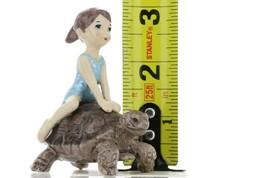 Hagen Renaker Specialty Turtle Girl Riding Tortoise Ceramic Figurine image 2