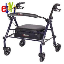 Rollator Walker with Padded Seat, 6? Wheels, Cushioned Back Support - $67.01