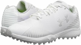 new UNDER ARMOUR LAX FINISHER LACROSSE Turf Shoes women's 6.5 cleats white - $35.54