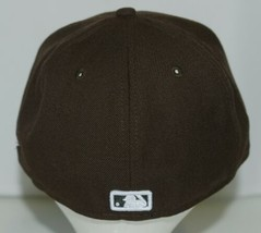 New Era CA40289 Genuine Merchandise Chicago White Sox Fitted Cap Brown Size 7 image 2