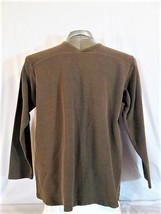 J.Crew Mens L Tall Long Sleeve Brown V Neck Sweater Casual (F) - $20.27