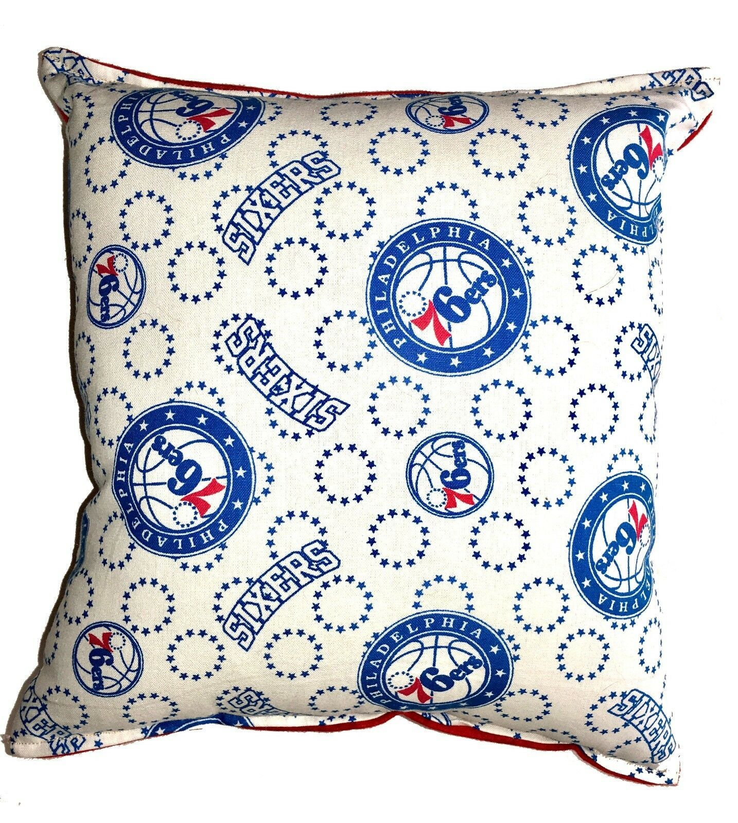 Primary image for 76ers Pillow Philadelphia Pillow NBA Handmade in USA 6 ers