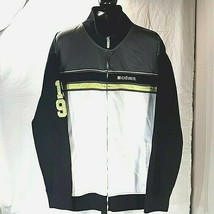 Ecko Unlimited Mens Sweatshirt Jacket Size XL Black Gray and Neon Colore... - $22.95