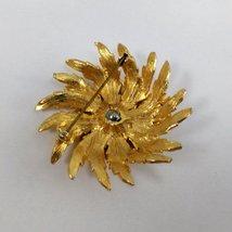 Gold Tone Flower Brooch Vintage  image 3
