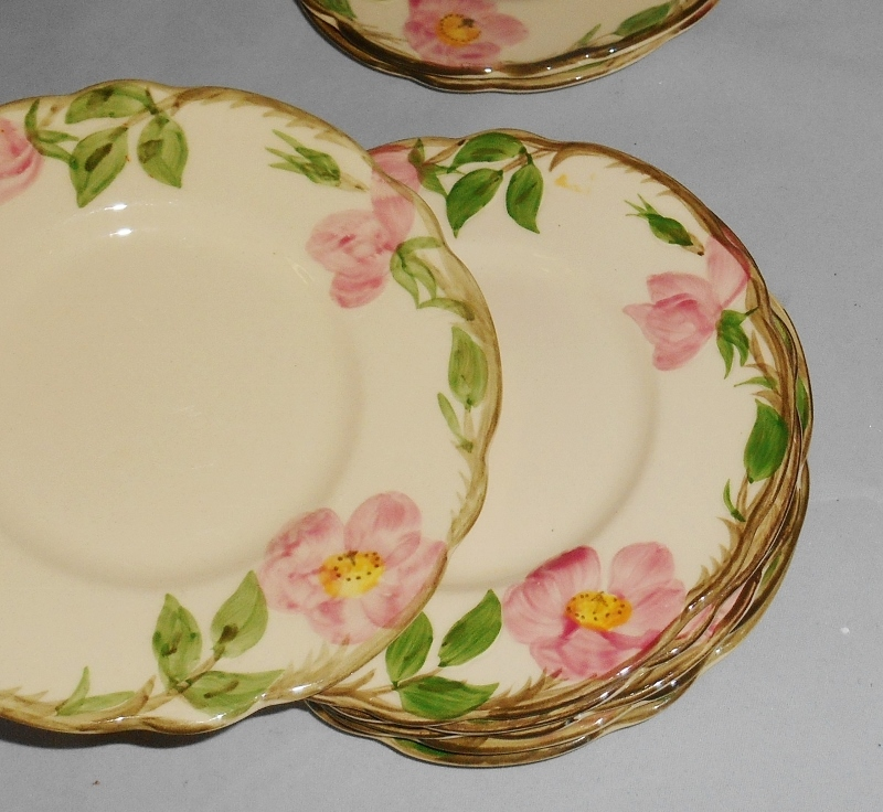 Franciscan Desert Rose Bread Plates Set of 8 Pottery Dinnerware Made in USA
