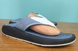 American Eagle AE 7 Women's Thick Sole Flip Flops - Size 10 - Blue & Black - $14.97