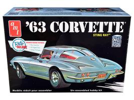 Model Kit 1963 Chevrolet Corvette Stingray 1/25 Scale Model by AMT  - $41.59