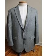 Alan Lebow 46 R 100% Lambswool Herringbone Two Button Blazer Suit Jacket - $37.05