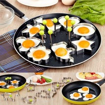 Mettal Round Egg Rings Pancake Mold Ring w Handles Nonstick Fried Frying... - $10.26 CAD+