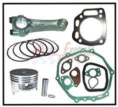 Honda GXV390 13hp Engine Overhaul Kit Piston Rings Clips Con Rod Full Gasket Set - $197.35