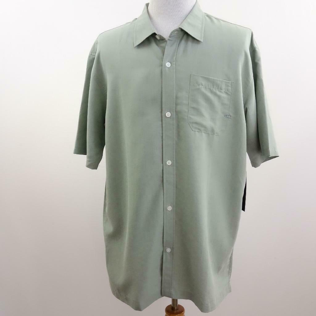 Primary image for O'Neill Baron Green Button Front Shirt Mens Sz XL
