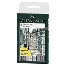 Faber-Castell F167808 8 x Pitt Artist Pens (Soft Brush) Shades of Grey - $26.68