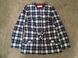 Vintage 70's Mens Pendleton Virgin Wool Blue Jacket, Size 8 - $34.99