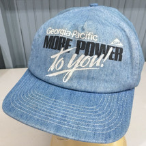 Georgia Pacific More Power To You Denim Made in USA Snapback Baseball Cap Hat - $20.06