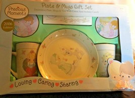 2006 ED PRECIOUS MOMENTS PLATE & MUGS GIFT SET ORIG BOX SHERWOOD BRANDS - $20.90