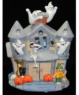 Partylite Halloween Haunted House Tealight Candle Ghosts - $49.38
