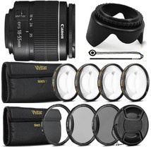 Canon EF-S 18-55mm f/3.5-5.6 III Lens with Top Filter Set For Canon 100D... - $125.12