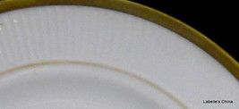 """Crown Staffordshire England Golden Glory White with Gold Gilt Trim 7"""" Si... - $32.62"""