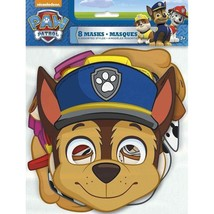 Paw Patrol 8 Paper Face Masks Birthday Party 4 designs Skye - $4.97 CAD