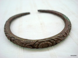 vintage antique old handmade bangle bracelet copper bangle kada - $47.52