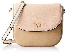 Michael Kors Half Dome Pebbled Leather Crossbody Bag Oat Soft Pink