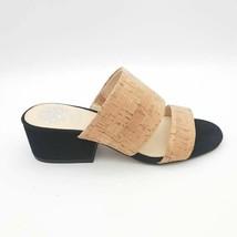 Vince Camuto Womens Caveera Slide Sandals Natural Cork Black Suede Heel 6.5M NEW - $39.59