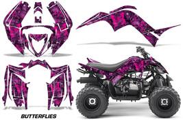 Graphics Kit Decal Sticker Wrap For Yamaha Raptor 90 YFM90 2016-2018 BFLY PUR PK - $129.95