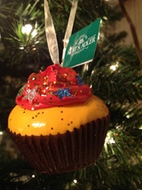 Christmas Ornament Chocolate Cupcake Orange Frosting Kurt S Adleruuî - $10.84