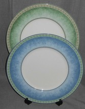 Set (2) Fitz & Floyd COUNTRY BLUES/GARDEN GREENS PATTERNS Chop Plates/Pl... - $39.59