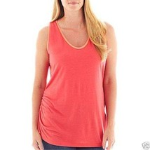 a.n.a Side-Ruched Colorblock Scarlet Tank Top Plus Size 1X, 2X New Msrp ... - $8.99