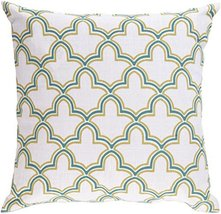 "Diva At Home 18"" Egyptian Magic Lily White, Turquoise and Lime Decorativ... - $70.78"