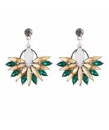 Flower Crystal Earrings - $9.99