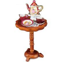 Dollhouse Red Lustre Limoges Style Tea Table 1.858/7 Reutter Miniature - $34.00