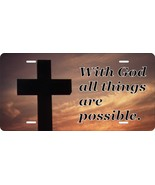 With God All Possible License Plate Personalized Car Bike Motorcycle Moped - $10.99+