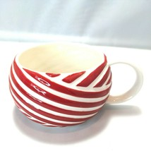 Starbucks Red & White Candy Cane Stripe Coffee Cup Tea Mug Holds 12 Ounces 2013 - $9.84