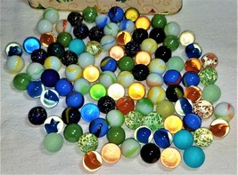 100 Marbles in Tin--Mixed Lot - $23.00