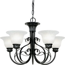 Gilded Iron Finish Chandelier Forged Iron Frame Progress Lighting P4307-71 - £216.25 GBP
