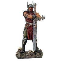 Collectible Nordic Viking Warrior with Longsword Hand Painted Resin Figu... - $45.99