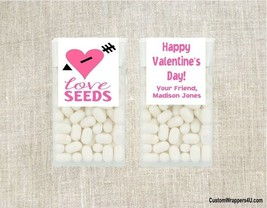 Valentine Valentine's Day LOVE SEEDS Mint Mints Party Favors Labels Pers... - $3.96+