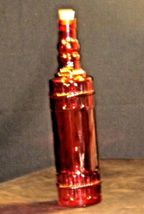 Red decorative bottle with cork AA19-1572 Vintage image 5