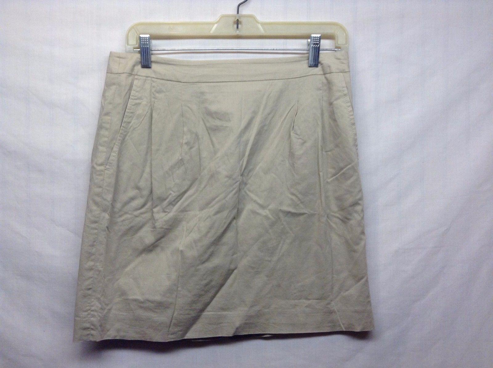 Ann Taylor LOFT Lined Beige Skirt Sz 4