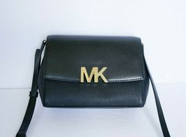 NWT MICHAEL KORS MONTGOMERY SMALL LEATHER CROSSBODY BAG BLACK image 5