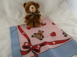 "VINTAGE RUSS BerrieTeddy Bear 7"" Stuffed Animal with child's scarf Heart... - $11.87"